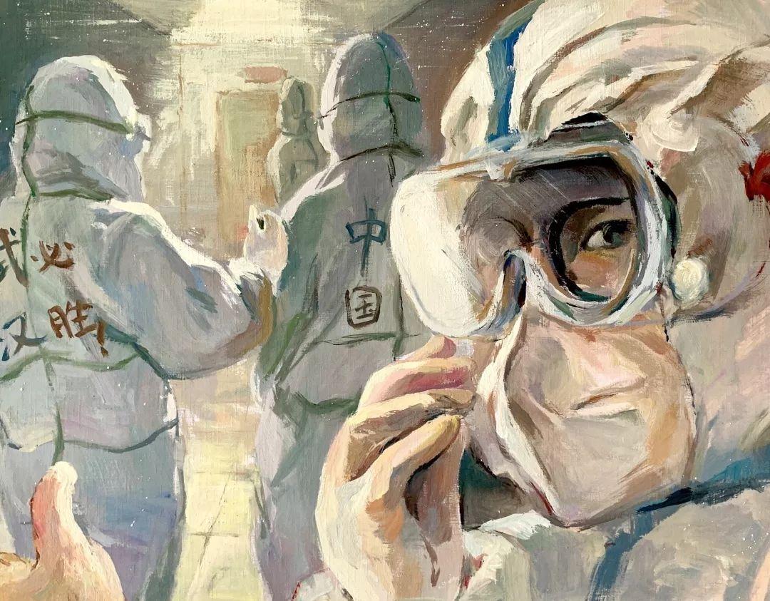 疫情当前,九大美院及千名画家用作品为武汉加油!看后暖哭了…插图55
