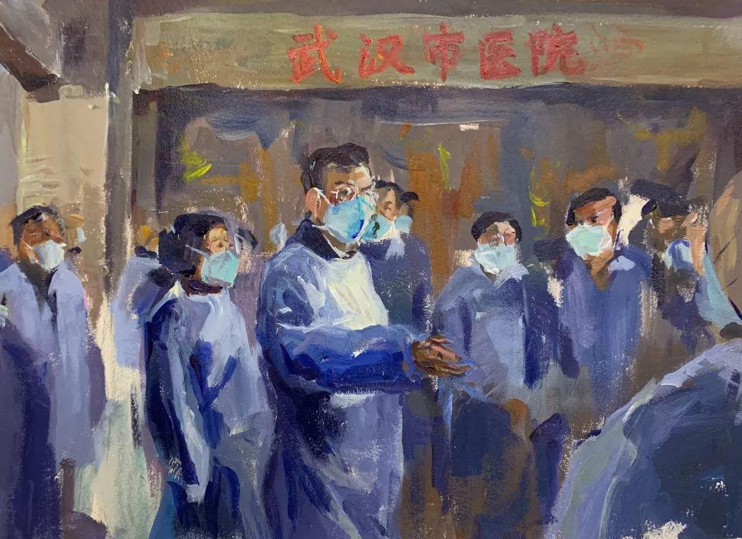 疫情当前,九大美院及千名画家用作品为武汉加油!看后暖哭了…插图57