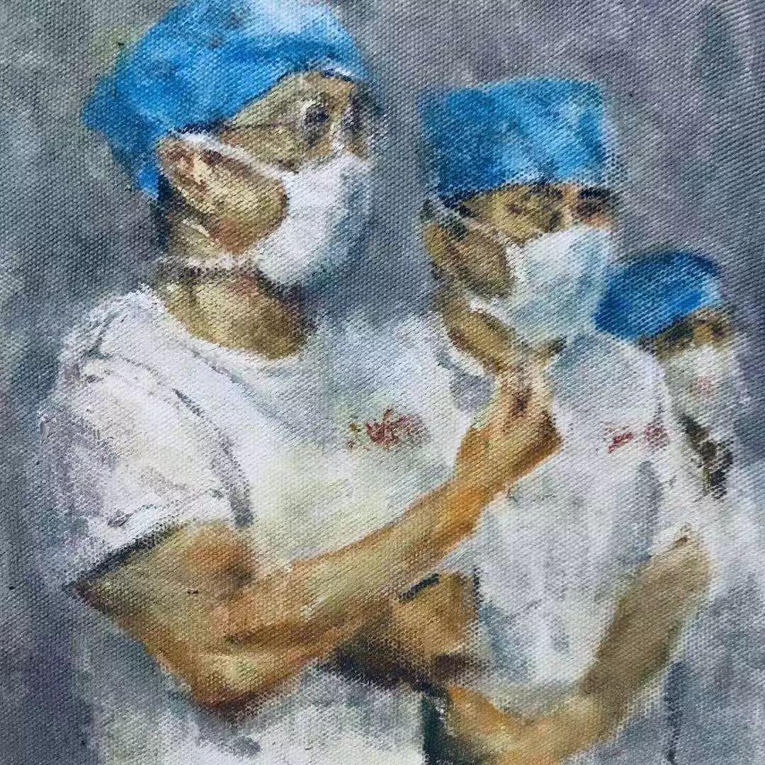 疫情当前,九大美院及千名画家用作品为武汉加油!看后暖哭了…插图58