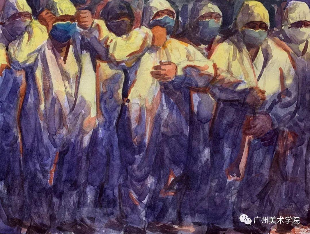 疫情当前,九大美院及千名画家用作品为武汉加油!看后暖哭了…插图67