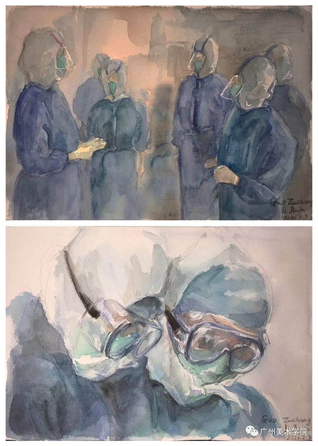 疫情当前,九大美院及千名画家用作品为武汉加油!看后暖哭了…插图69