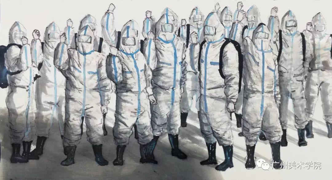 疫情当前,九大美院及千名画家用作品为武汉加油!看后暖哭了…插图75