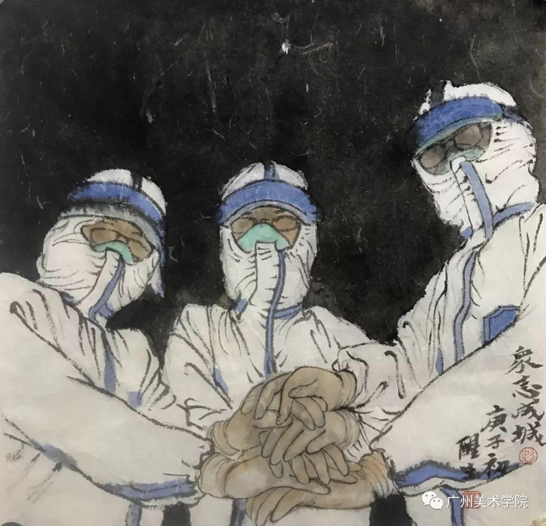 疫情当前,九大美院及千名画家用作品为武汉加油!看后暖哭了…插图76