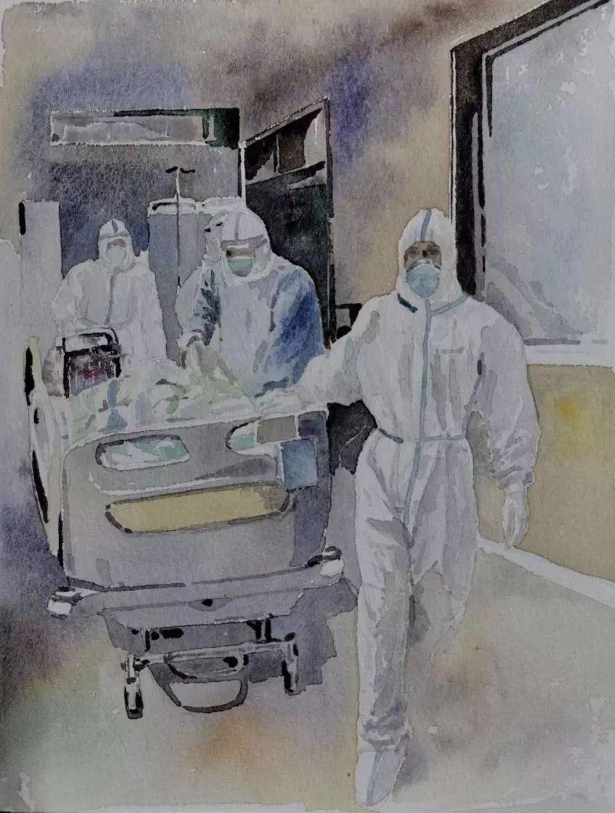 疫情当前,九大美院及千名画家用作品为武汉加油!看后暖哭了…插图106