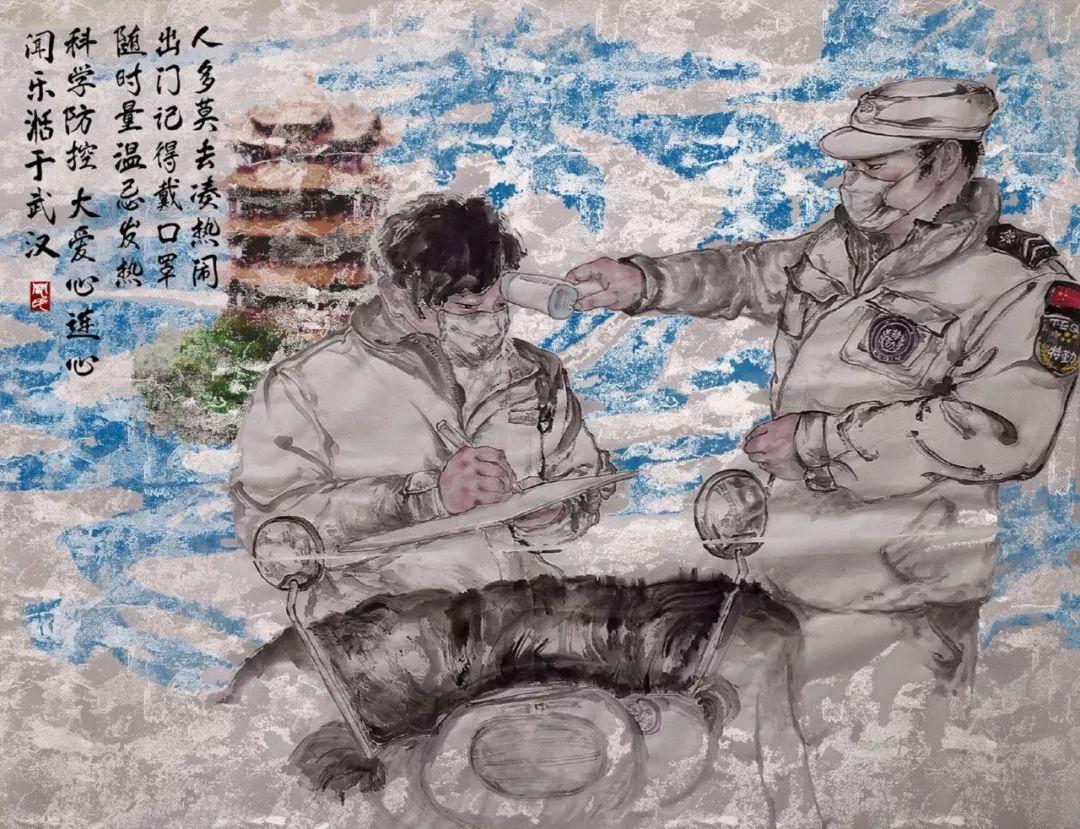 疫情当前,九大美院及千名画家用作品为武汉加油!看后暖哭了…插图108