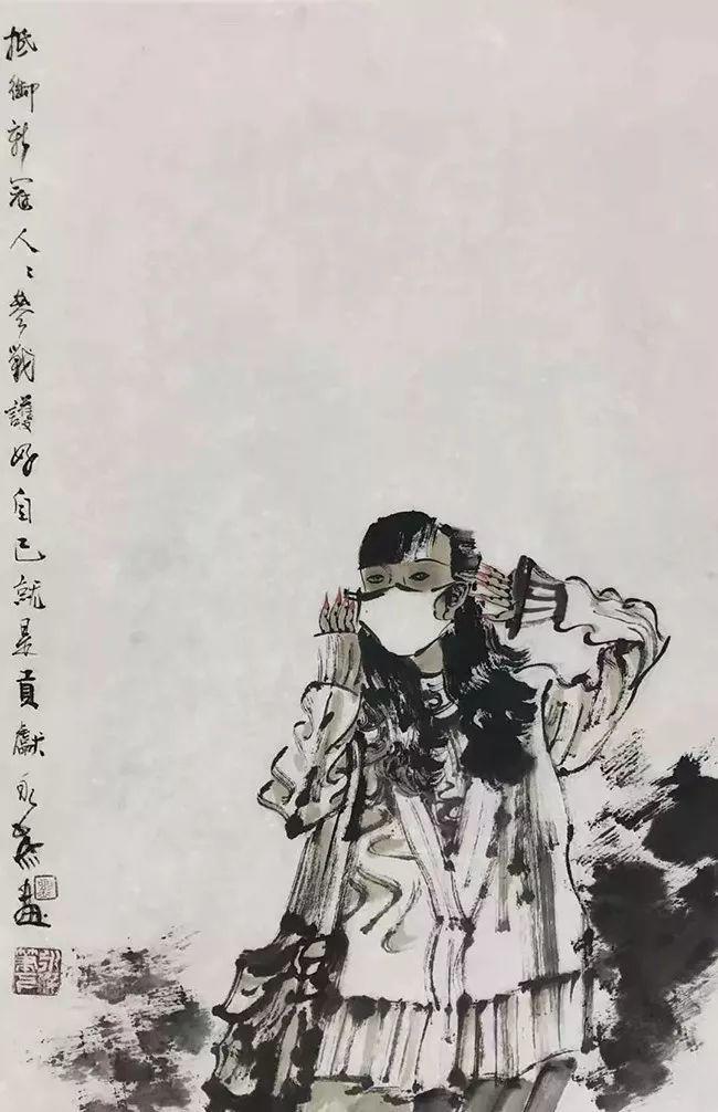 疫情当前,九大美院及千名画家用作品为武汉加油!看后暖哭了…插图128