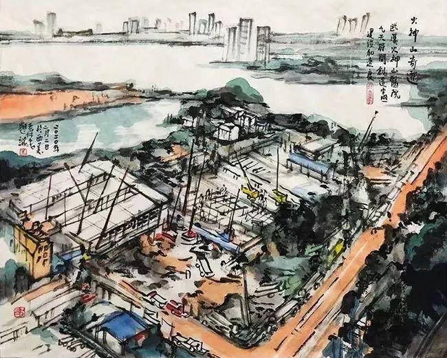 疫情当前,九大美院及千名画家用作品为武汉加油!看后暖哭了…插图130