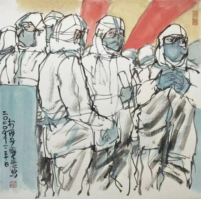疫情当前,九大美院及千名画家用作品为武汉加油!看后暖哭了…插图131