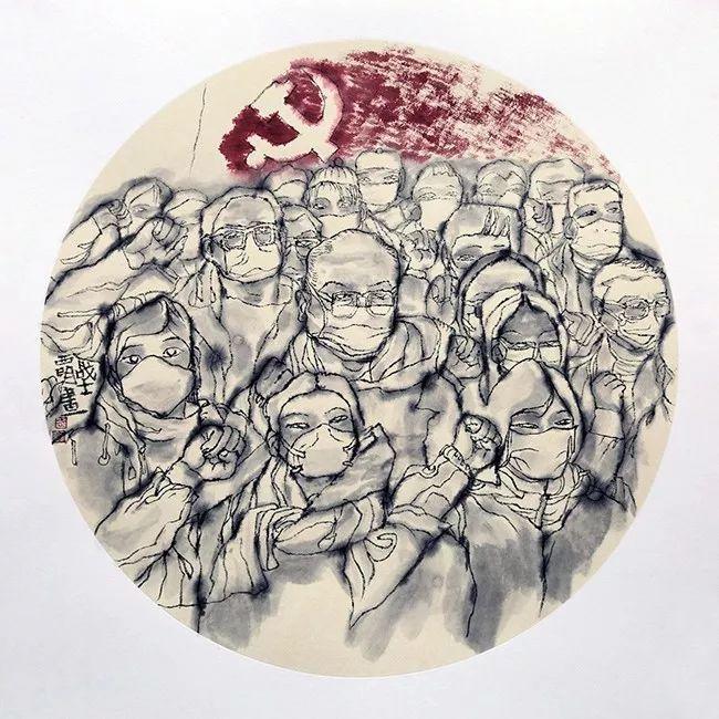疫情当前,九大美院及千名画家用作品为武汉加油!看后暖哭了…插图132