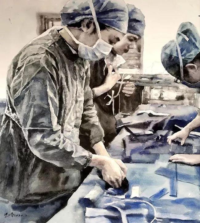 疫情当前,九大美院及千名画家用作品为武汉加油!看后暖哭了…插图138
