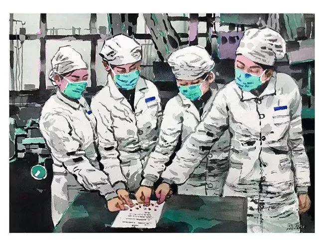 疫情当前,九大美院及千名画家用作品为武汉加油!看后暖哭了…插图139