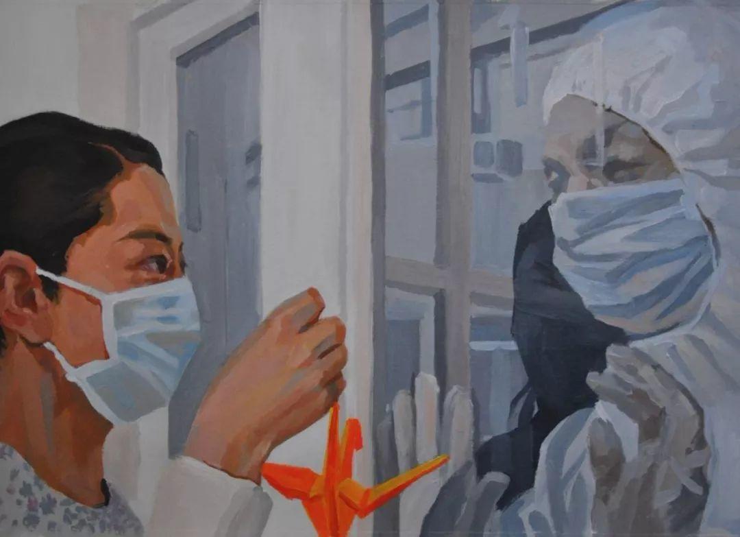 疫情当前,九大美院及千名画家用作品为武汉加油!看后暖哭了…插图149