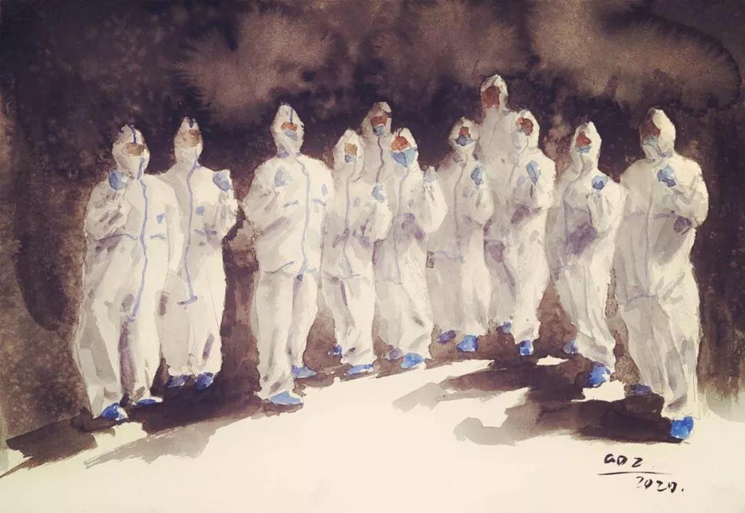 疫情当前,九大美院及千名画家用作品为武汉加油!看后暖哭了…插图150