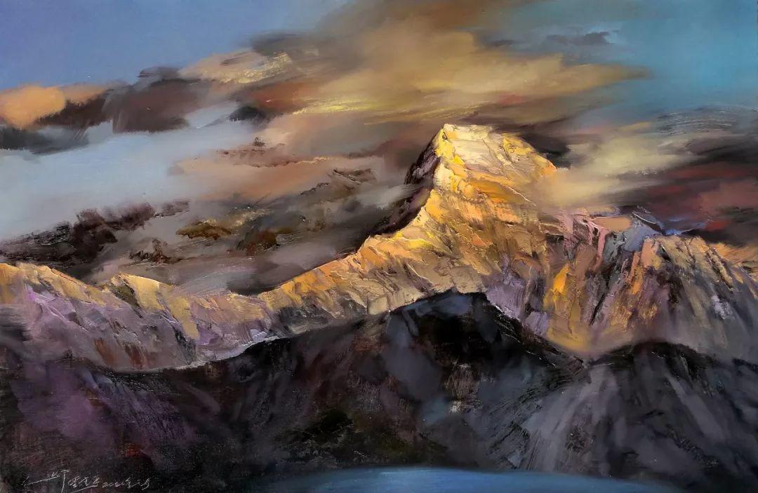 敬畏之心与崇高之美,罗晓平油画作品欣赏插图