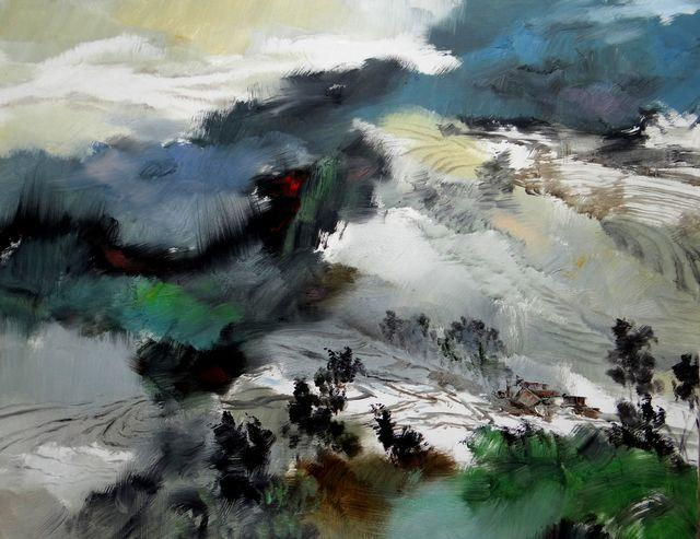 敬畏之心与崇高之美,罗晓平油画作品欣赏插图1