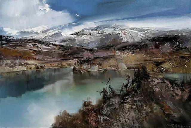 敬畏之心与崇高之美,罗晓平油画作品欣赏插图3