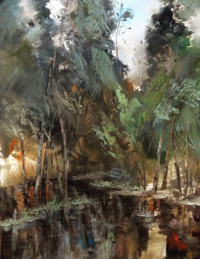 敬畏之心与崇高之美,罗晓平油画作品欣赏插图11