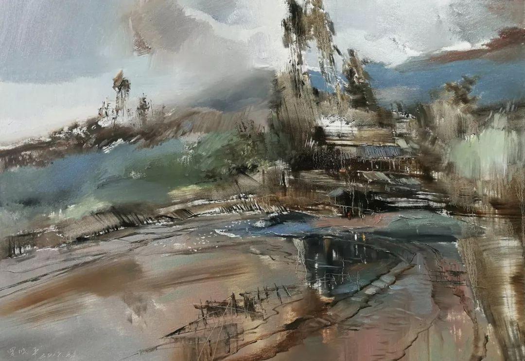 敬畏之心与崇高之美,罗晓平油画作品欣赏插图16