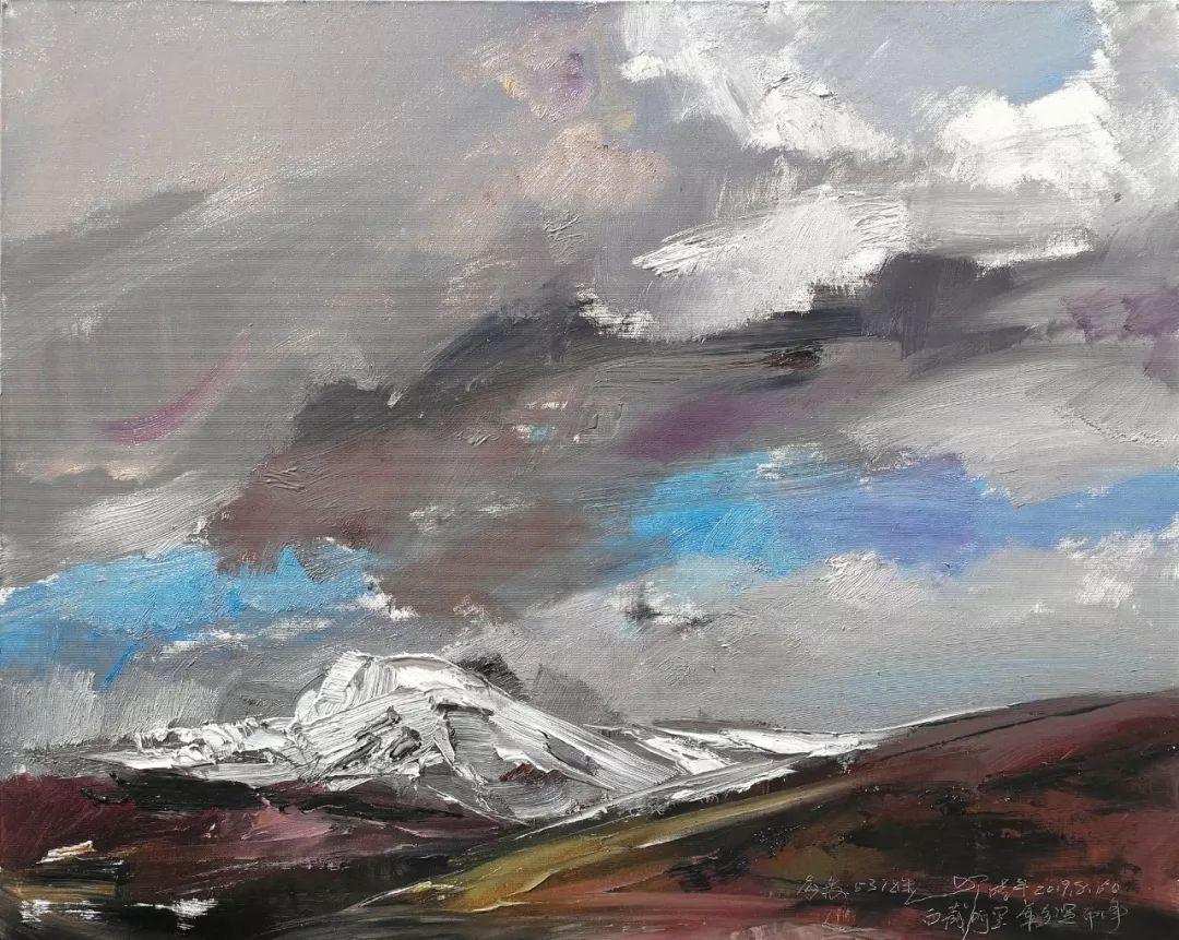 敬畏之心与崇高之美,罗晓平油画作品欣赏插图19