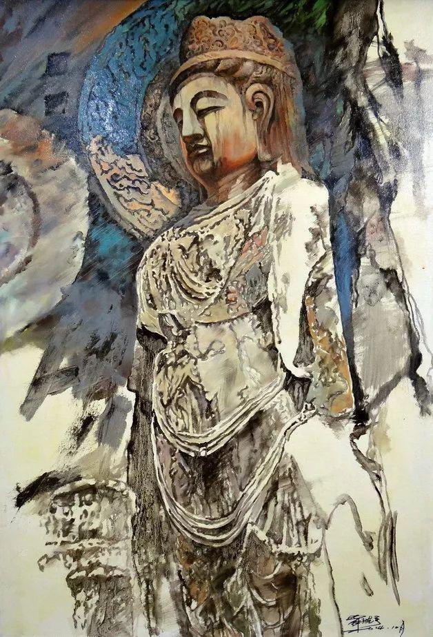 敬畏之心与崇高之美,罗晓平油画作品欣赏插图34