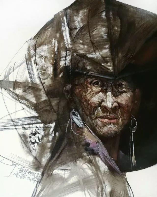 敬畏之心与崇高之美,罗晓平油画作品欣赏插图37