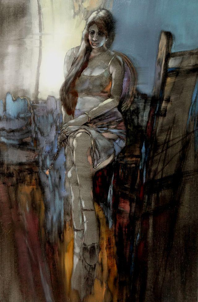 敬畏之心与崇高之美,罗晓平油画作品欣赏插图39