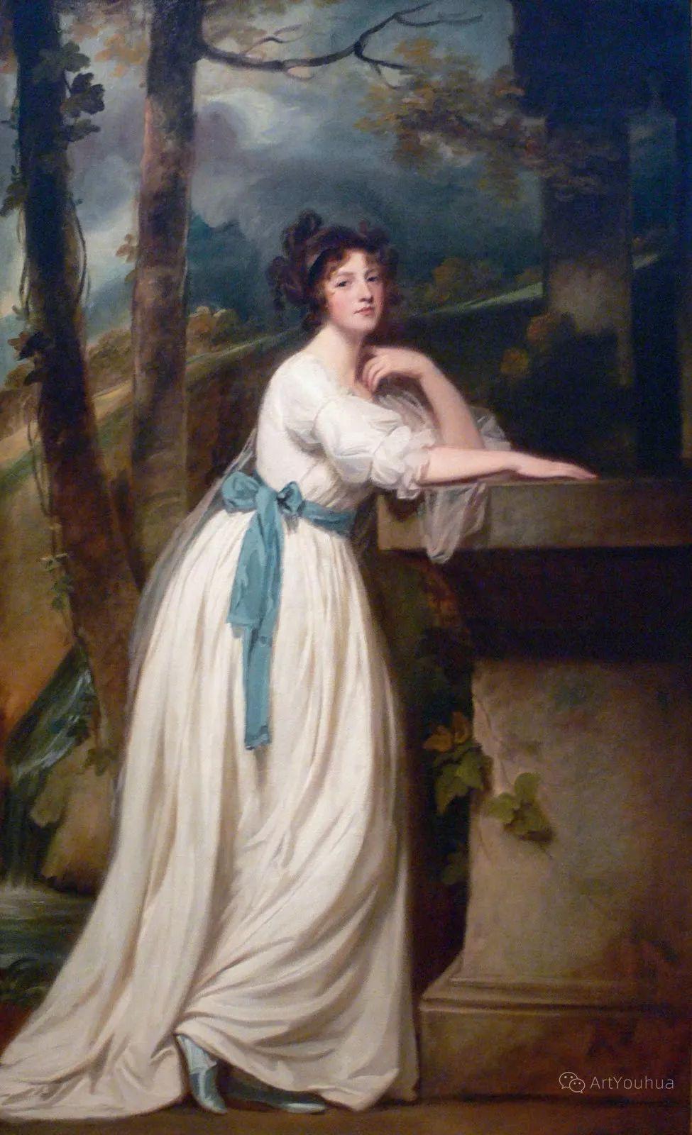 他是他那个时代最时尚的艺术家,画过许多社会名流,英国艺术家乔治·罗姆尼 85图插图23