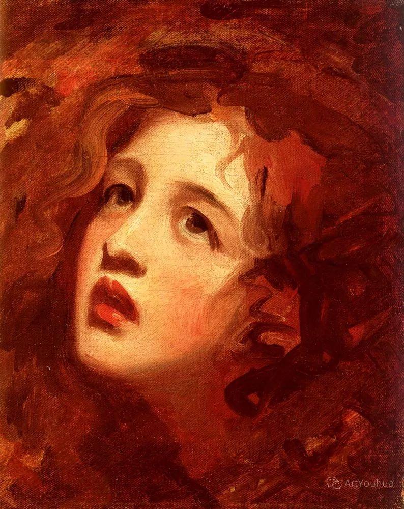 他是他那个时代最时尚的艺术家,画过许多社会名流,英国艺术家乔治·罗姆尼 85图插图101