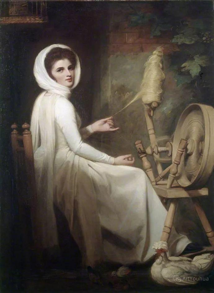他是他那个时代最时尚的艺术家,画过许多社会名流,英国艺术家乔治·罗姆尼 85图插图119