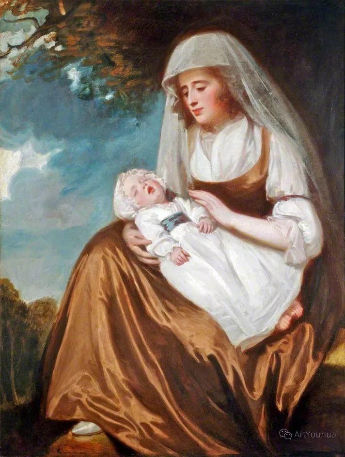 他是他那个时代最时尚的艺术家,画过许多社会名流,英国艺术家乔治·罗姆尼 85图插图129