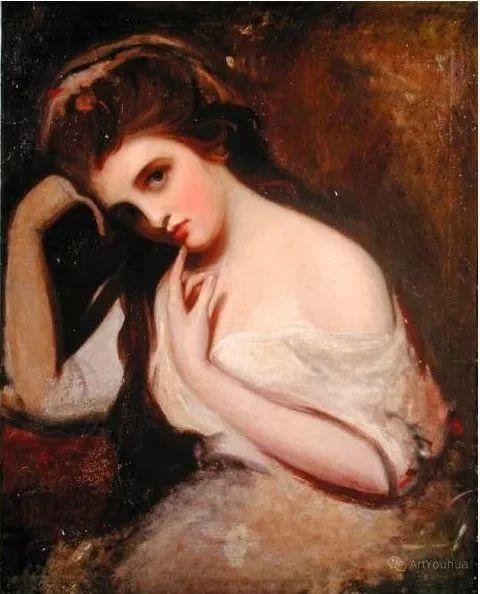 他是他那个时代最时尚的艺术家,画过许多社会名流,英国艺术家乔治·罗姆尼 85图插图165