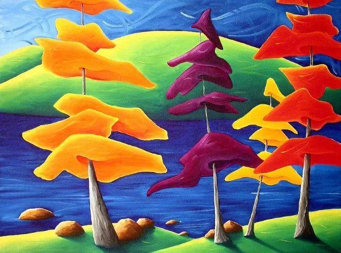 放松、愉悦、多彩,加拿大艺术家理查德·霍德尔插图1