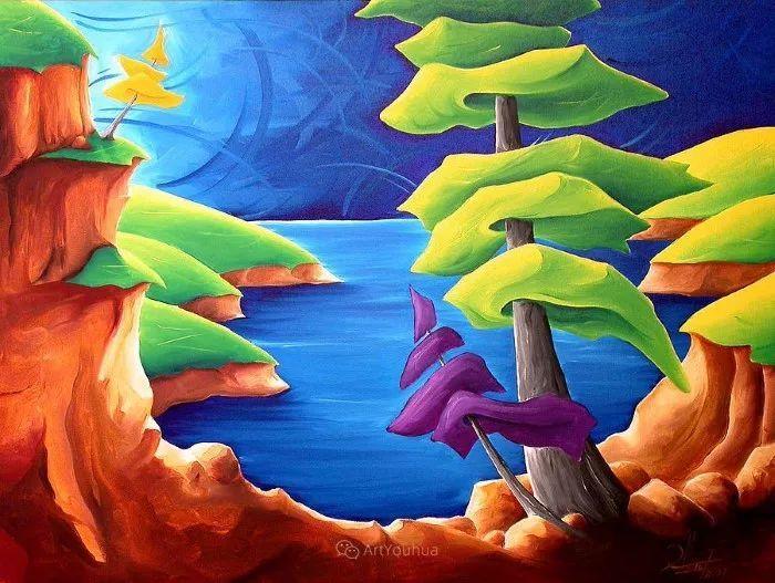 放松、愉悦、多彩,加拿大艺术家理查德·霍德尔插图3
