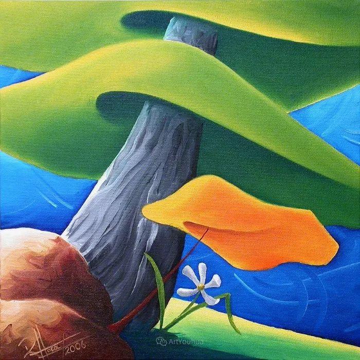 放松、愉悦、多彩,加拿大艺术家理查德·霍德尔插图9