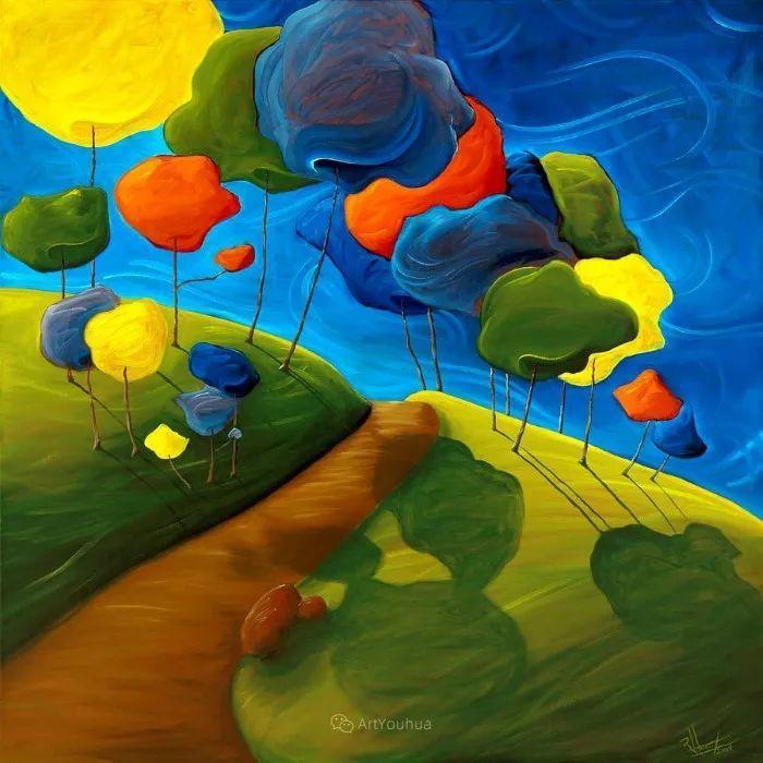 放松、愉悦、多彩,加拿大艺术家理查德·霍德尔插图13