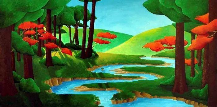 放松、愉悦、多彩,加拿大艺术家理查德·霍德尔插图17