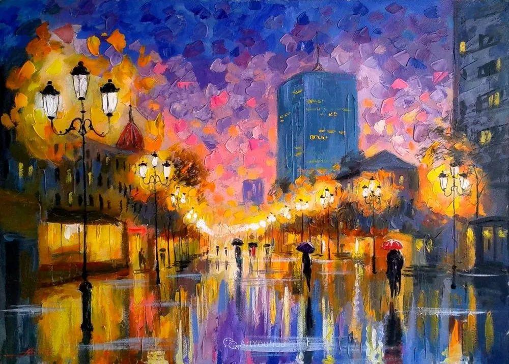 他笔下的路灯街景,很浪漫,暖心!乌克兰艺术家亚历山大·博洛托夫插图3