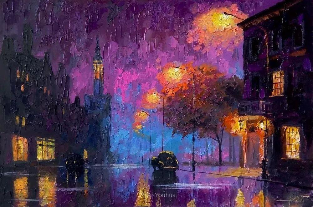 他笔下的路灯街景,很浪漫,暖心!乌克兰艺术家亚历山大·博洛托夫插图5