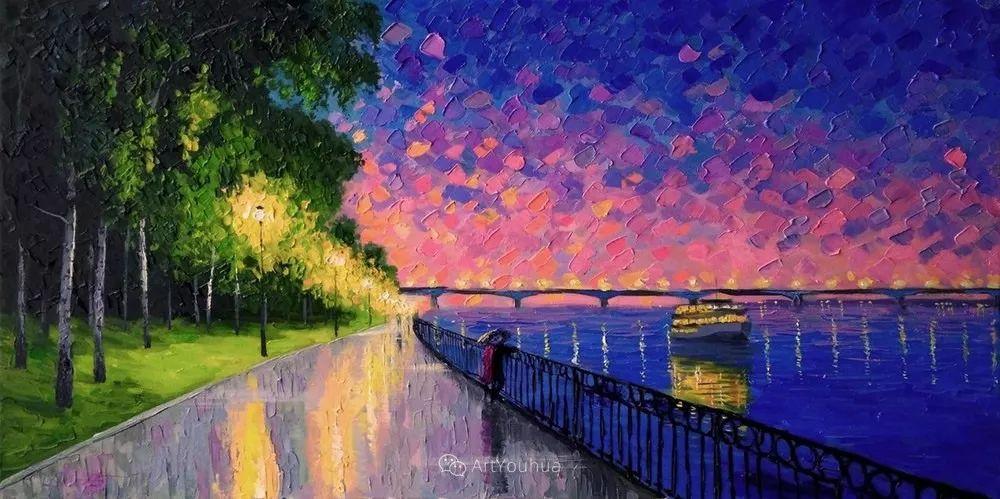 他笔下的路灯街景,很浪漫,暖心!乌克兰艺术家亚历山大·博洛托夫插图7