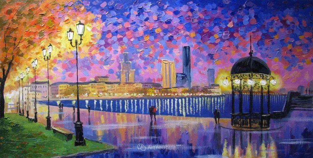 他笔下的路灯街景,很浪漫,暖心!乌克兰艺术家亚历山大·博洛托夫插图9