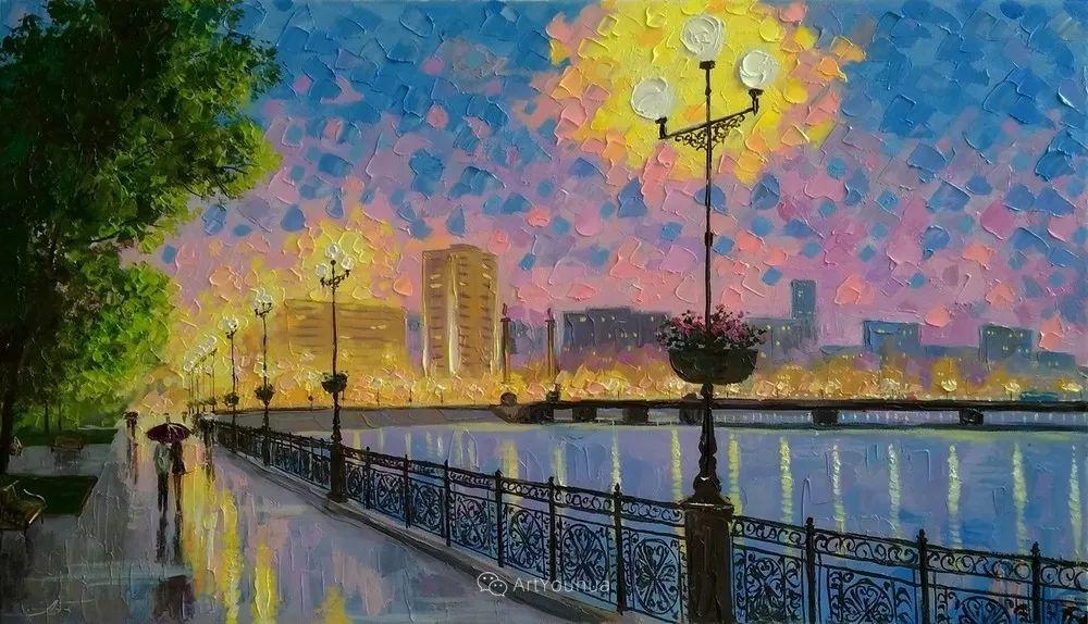 他笔下的路灯街景,很浪漫,暖心!乌克兰艺术家亚历山大·博洛托夫插图11