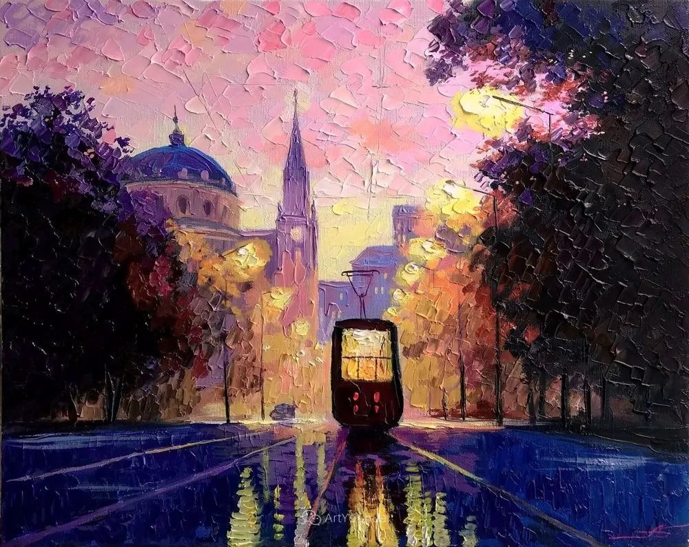 他笔下的路灯街景,很浪漫,暖心!乌克兰艺术家亚历山大·博洛托夫插图13