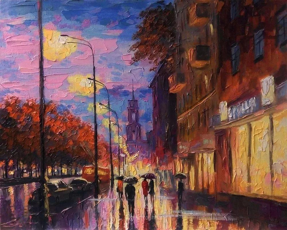 他笔下的路灯街景,很浪漫,暖心!乌克兰艺术家亚历山大·博洛托夫插图15