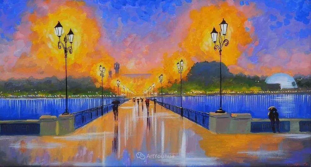 他笔下的路灯街景,很浪漫,暖心!乌克兰艺术家亚历山大·博洛托夫插图19