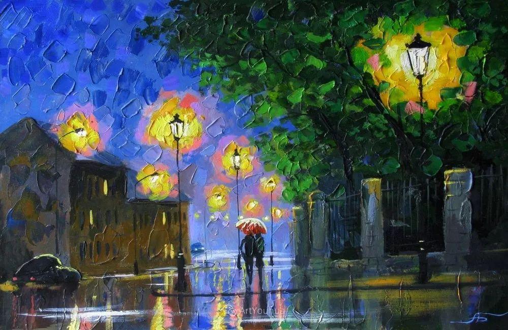 他笔下的路灯街景,很浪漫,暖心!乌克兰艺术家亚历山大·博洛托夫插图21