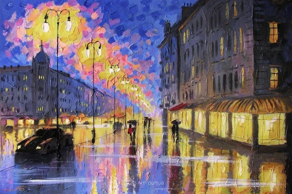 他笔下的路灯街景,很浪漫,暖心!乌克兰艺术家亚历山大·博洛托夫插图23