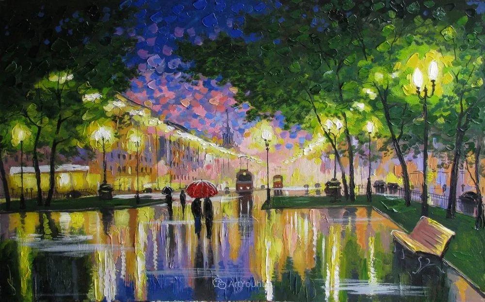他笔下的路灯街景,很浪漫,暖心!乌克兰艺术家亚历山大·博洛托夫插图27