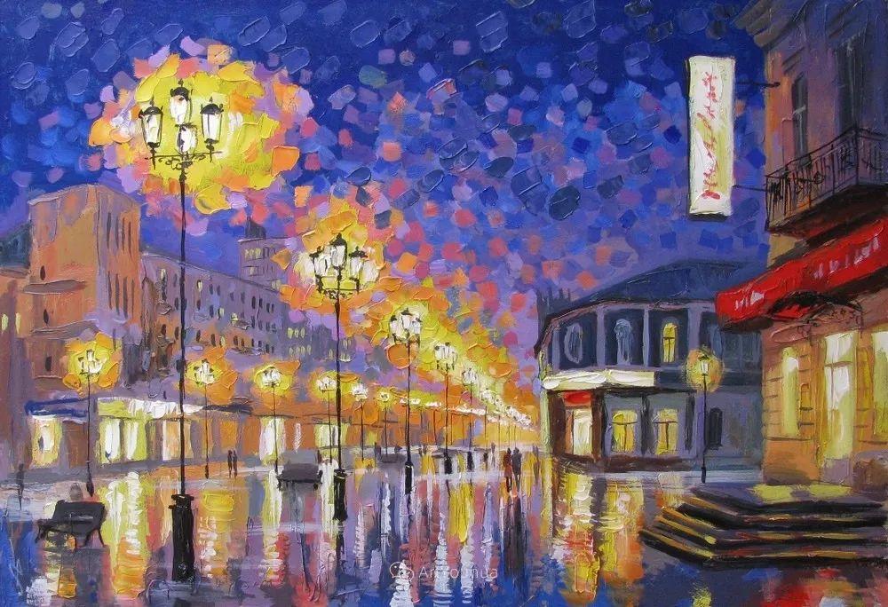 他笔下的路灯街景,很浪漫,暖心!乌克兰艺术家亚历山大·博洛托夫插图29