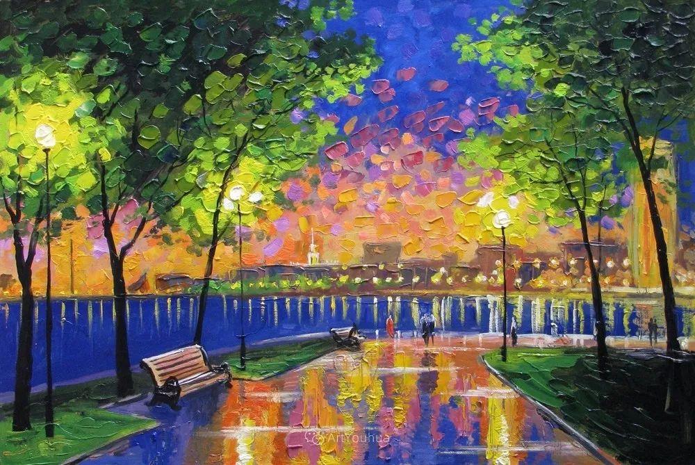 他笔下的路灯街景,很浪漫,暖心!乌克兰艺术家亚历山大·博洛托夫插图31