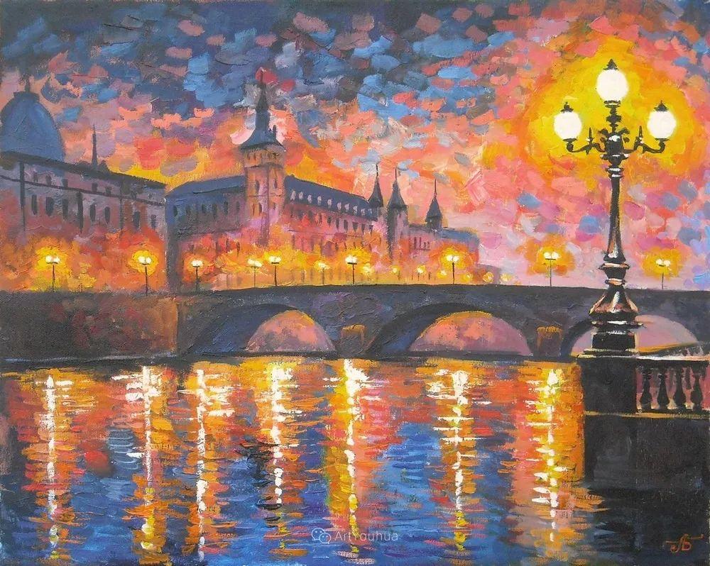 他笔下的路灯街景,很浪漫,暖心!乌克兰艺术家亚历山大·博洛托夫插图43